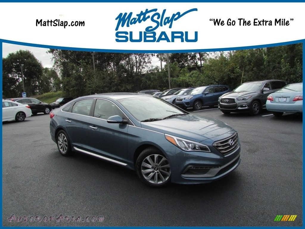 2016 Sonata Sport - Nouveau Blue / Gray photo #1