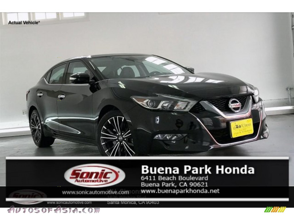 2016 Maxima Platinum - Super Black / Charcoal photo #1