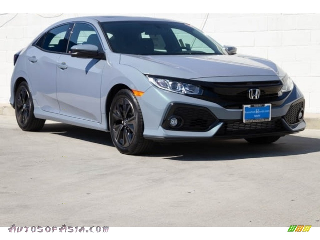 2020 Civic EX Hatchback - Sonic Gray Pearl / Black photo #1