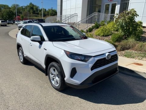 Super White 2019 Toyota RAV4 LE AWD