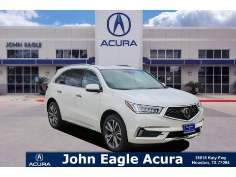 White Diamond Pearl 2017 Acura MDX Advance