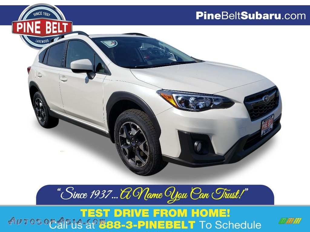 2019 Crosstrek 2.0i Premium - Crystal White Pearl / Black photo #1