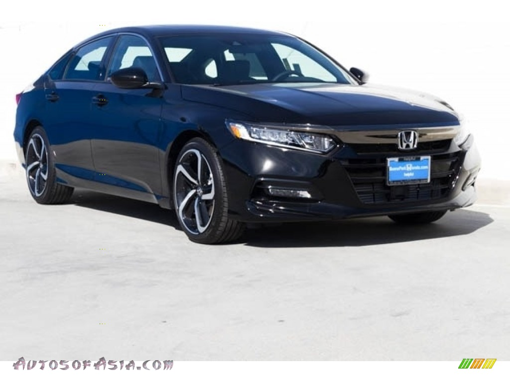 2019 Accord Sport Sedan - Crystal Black Pearl / Black photo #1