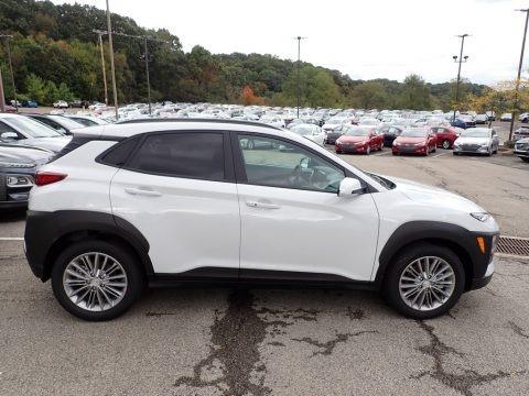 Chalk White 2020 Hyundai Kona SEL AWD