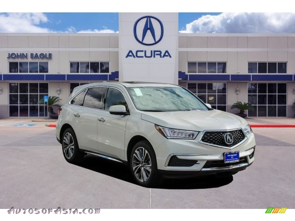 Platinum White Pearl / Ebony Acura MDX Technology
