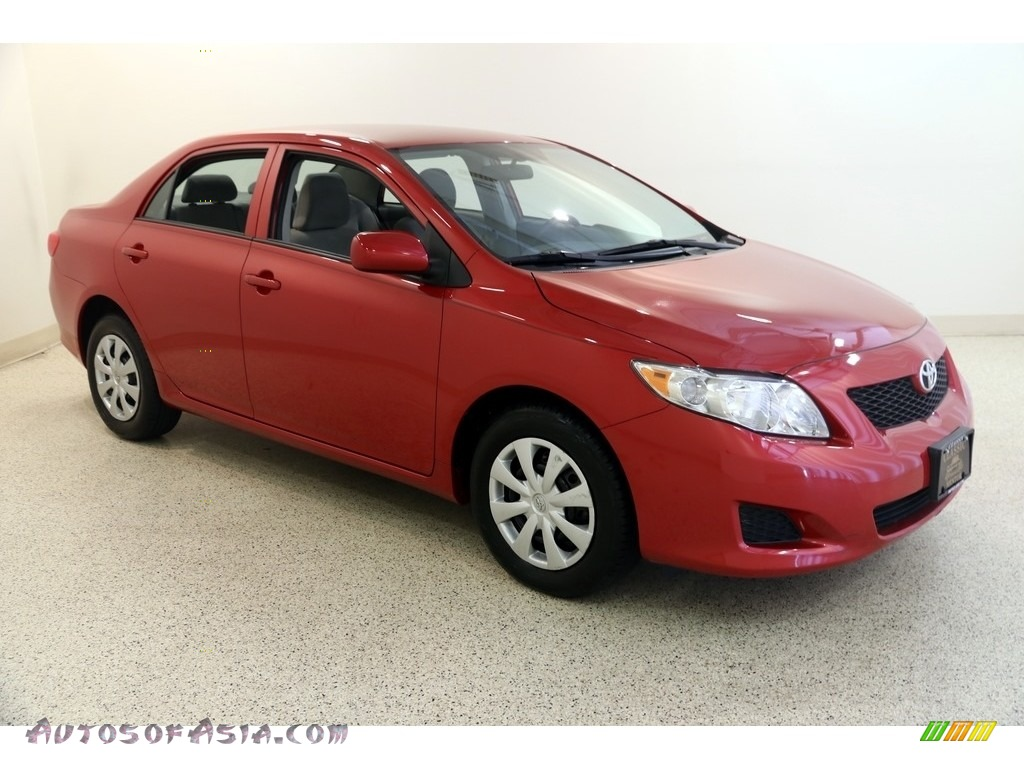 2010 Corolla LE - Barcelona Red Metallic / Ash photo #1
