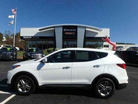 Pearl White 2017 Hyundai Santa Fe Sport AWD