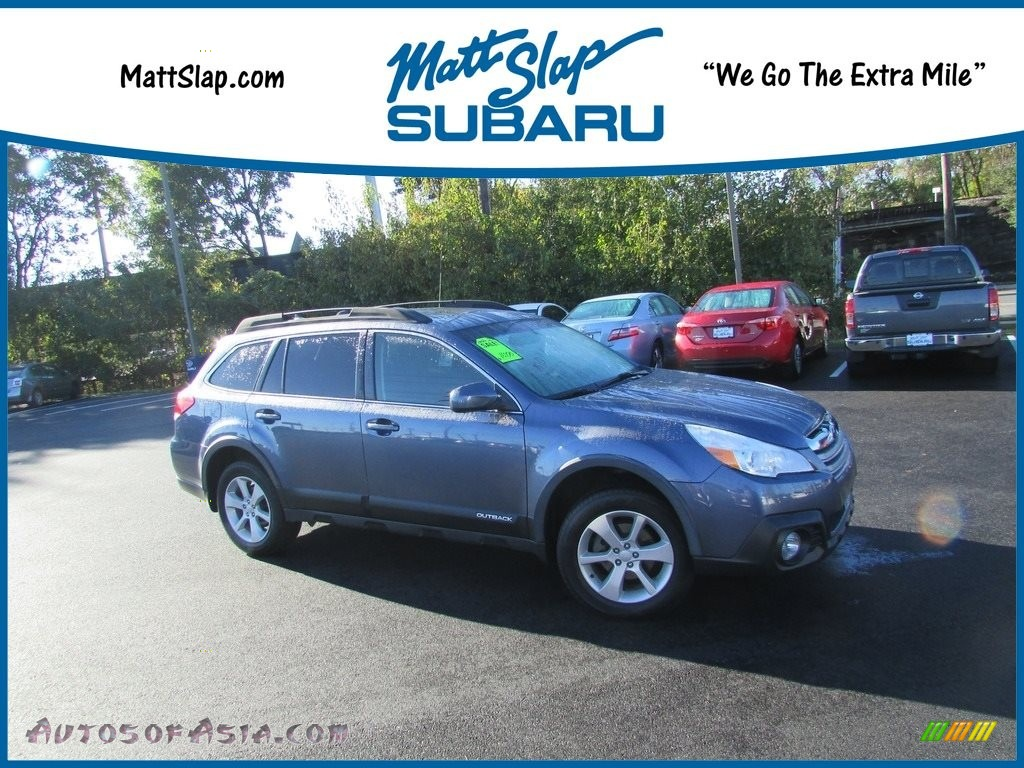 2014 Outback 2.5i Premium - Twilight Blue Metallic / Black photo #1