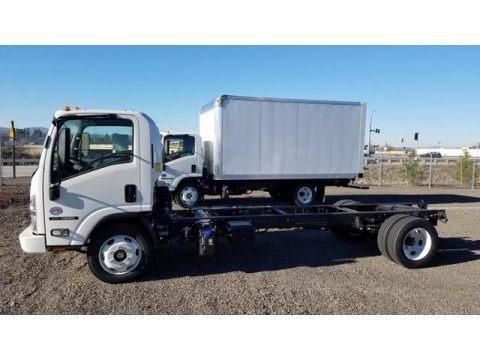 Arctic White 2019 Isuzu N Series Truck NRR Chassis