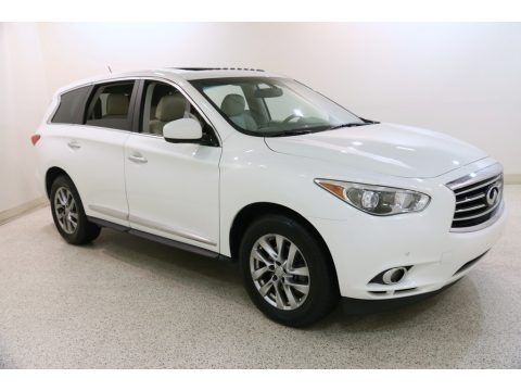 Moonlight White 2013 Infiniti JX 35 AWD