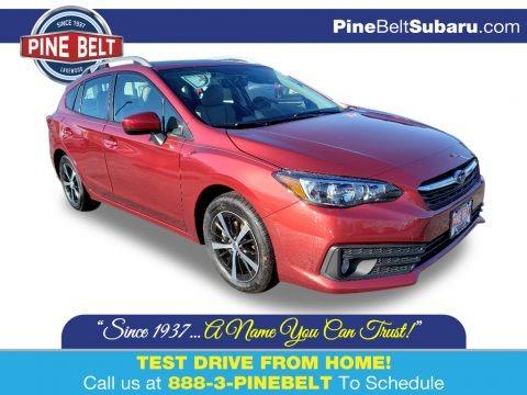 Crimson Red Pearl 2020 Subaru Impreza Premium 5-Door