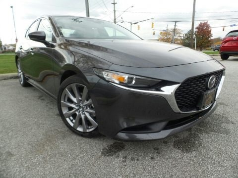 Machine Gray Metallic 2020 Mazda MAZDA3 Select Sedan