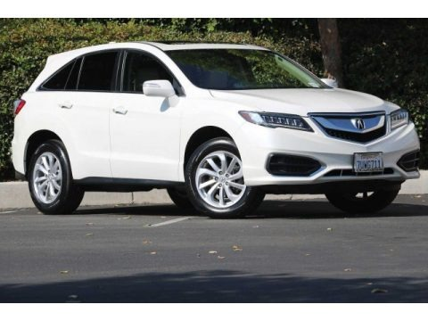 White Diamond Pearl 2017 Acura RDX Technology