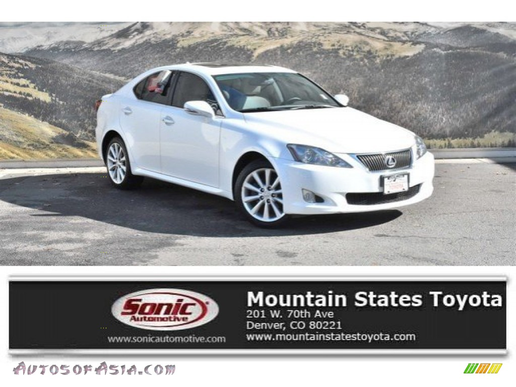 2010 IS 250 AWD - Starfire White Pearl / Ecru Beige photo #1