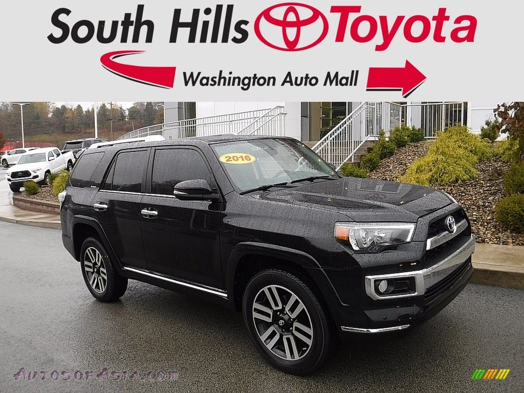 2016 4Runner Limited 4x4 - Midnight Black Metallic / Limited Redwood photo #1