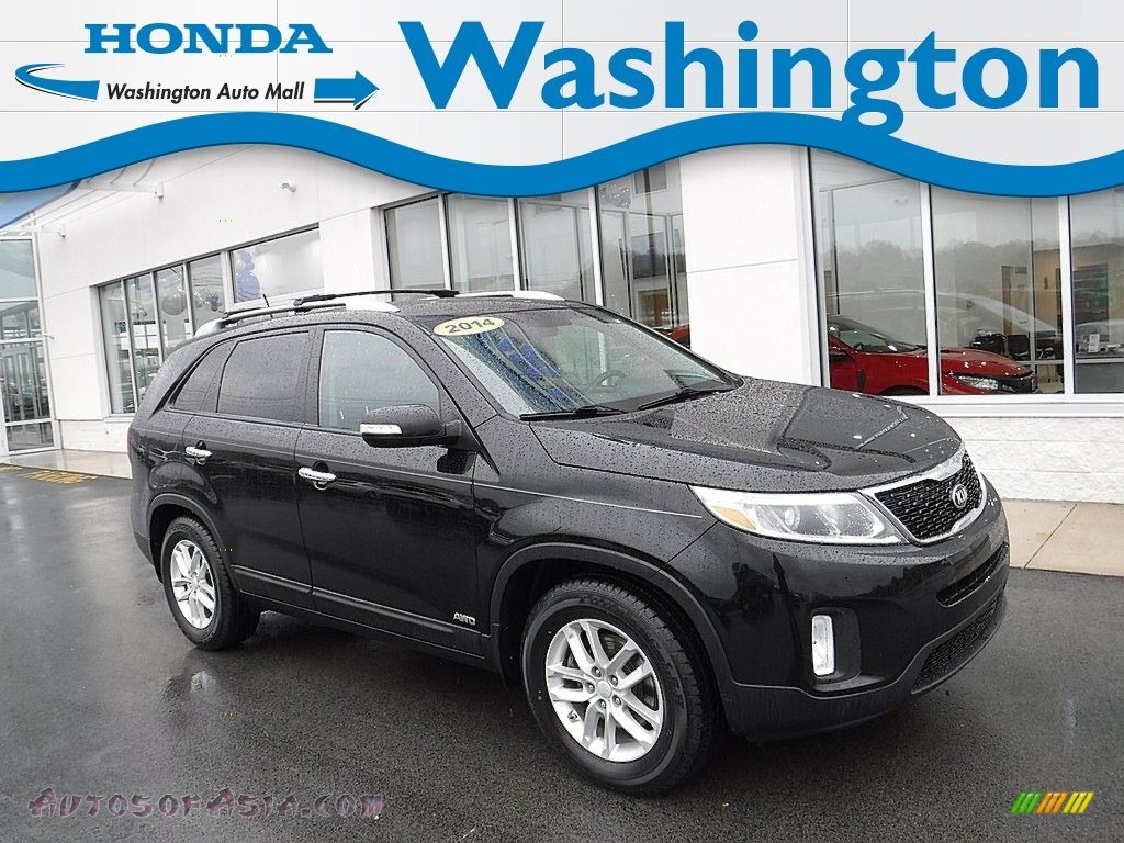 2014 Sorento LX AWD - Ebony Black / Black photo #1