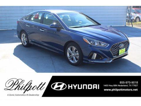 Blue 2019 Hyundai Sonata SEL