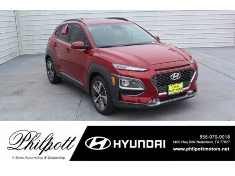 Pulse Red 2020 Hyundai Kona Limited