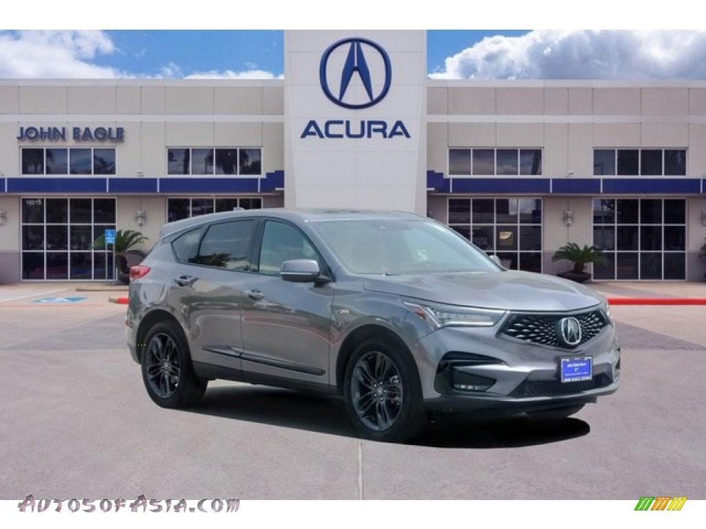 2020 RDX A-Spec - Modern Steel Metallic / Red photo #1