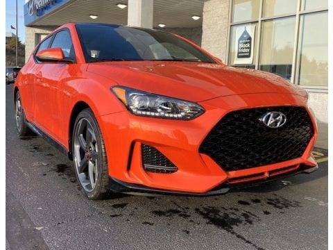 Sunset Orange 2020 Hyundai Veloster Turbo
