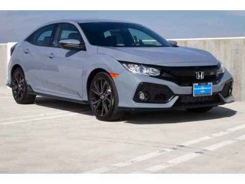 Sonic Gray Pearl 2020 Honda Civic Sport Hatchback