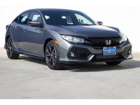 Polished Metal Metallic 2020 Honda Civic Sport Hatchback