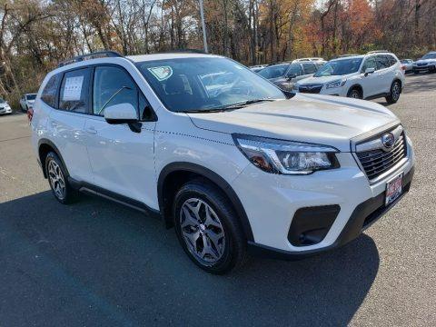 Crystal White Pearl 2020 Subaru Forester 2.5i Premium