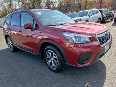 Crimson Red Pearl 2020 Subaru Forester 2.5i Premium