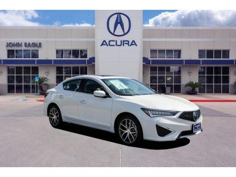 Platinum White Pearl 2019 Acura ILX Premium