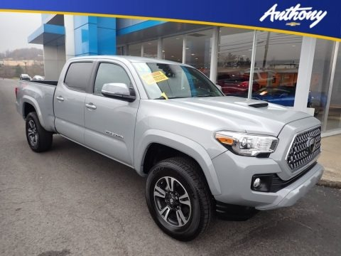 Silver Sky Metallic 2019 Toyota Tacoma TRD Sport Double Cab 4x4