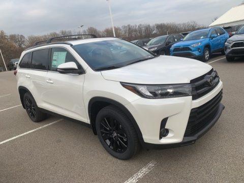 Blizzard Pearl White 2019 Toyota Highlander SE AWD