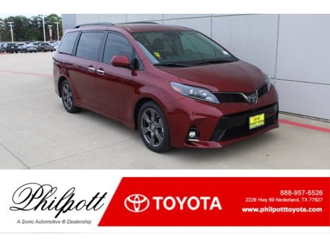 Salsa Red Pearl 2020 Toyota Sienna SE