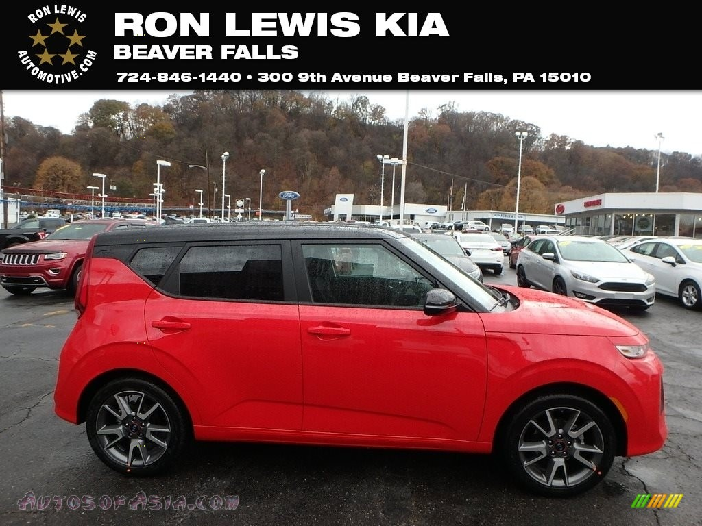 Inferno Red / Black Kia Soul GT-Line