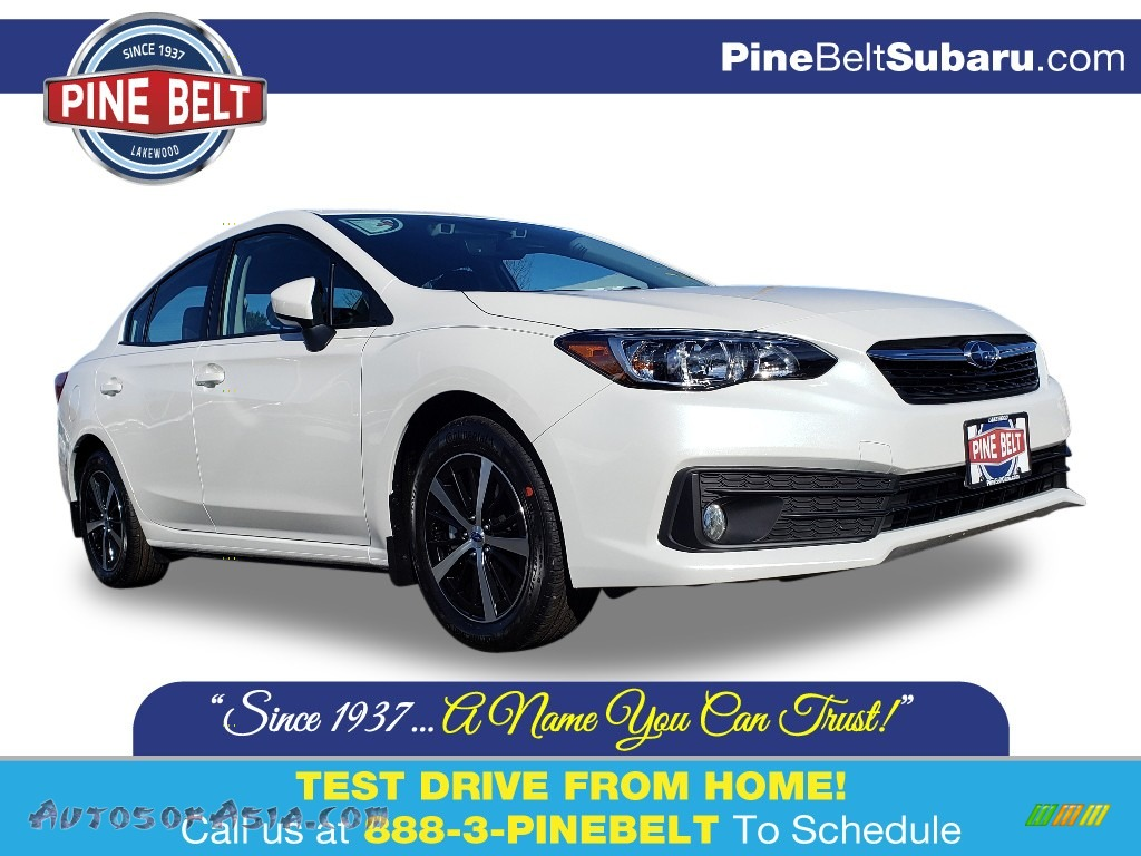 2020 Impreza Premium Sedan - Crystal White Pearl / Black photo #1