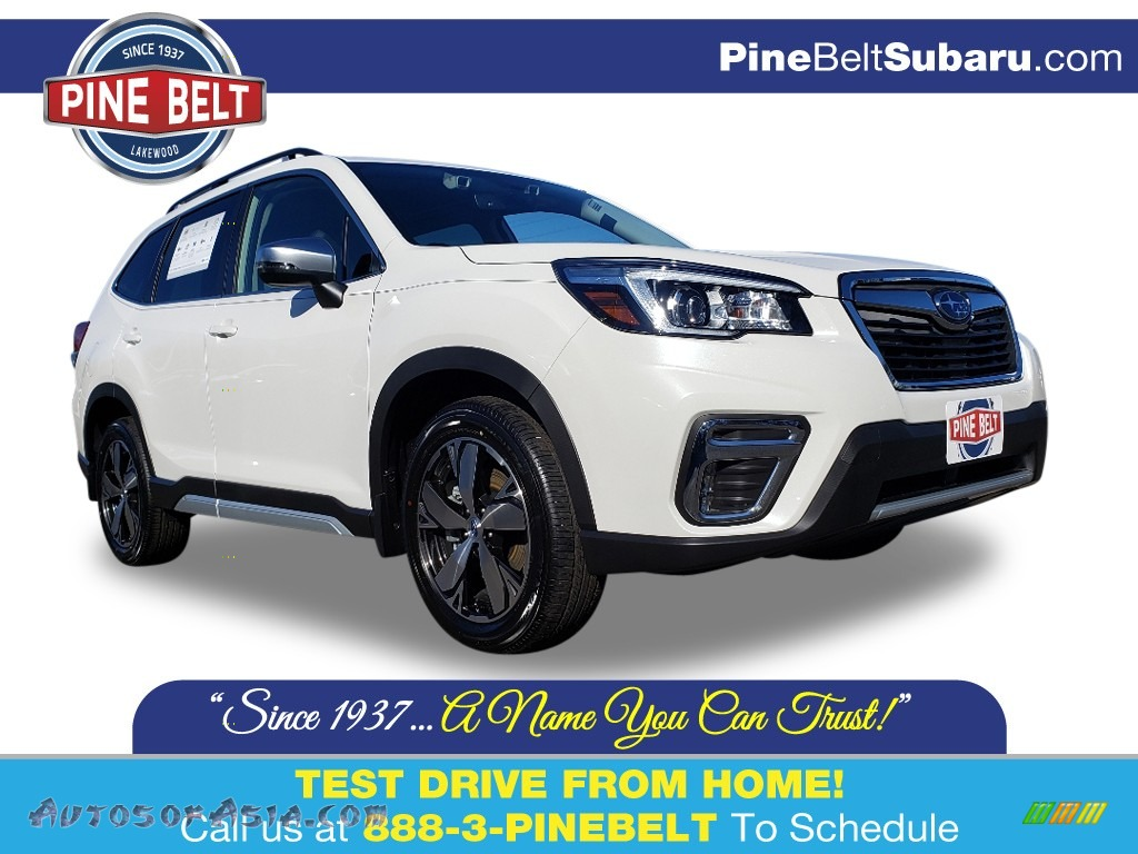 2020 Forester 2.5i Touring - Crystal White Pearl / Black photo #1