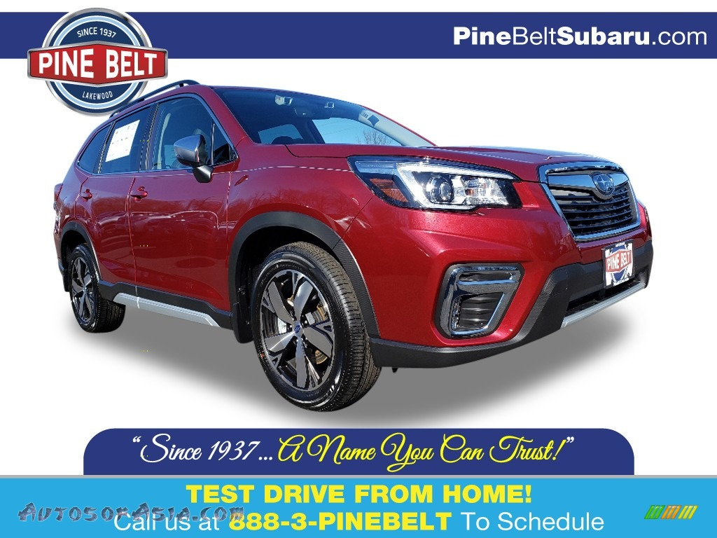 2020 Forester 2.5i Touring - Crimson Red Pearl / Black photo #1