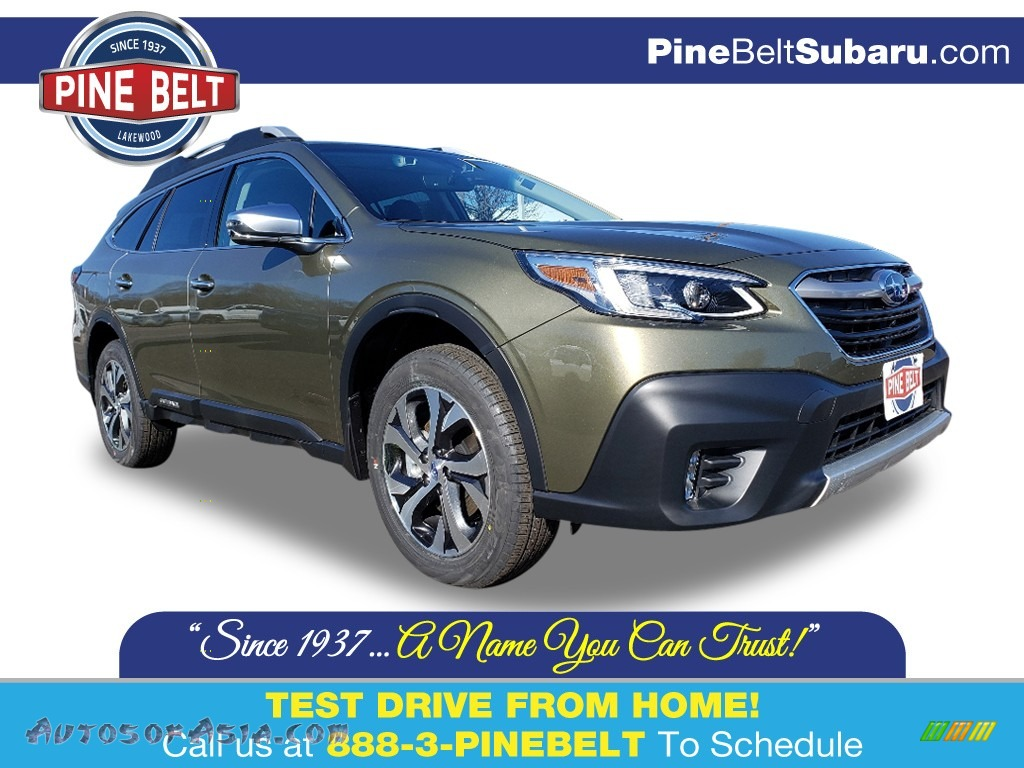 2020 Outback 2.5i Touring - Autumn Green Metallic / Java Brown photo #1