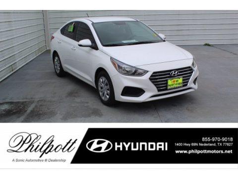 Frost White Pearl 2020 Hyundai Accent SE