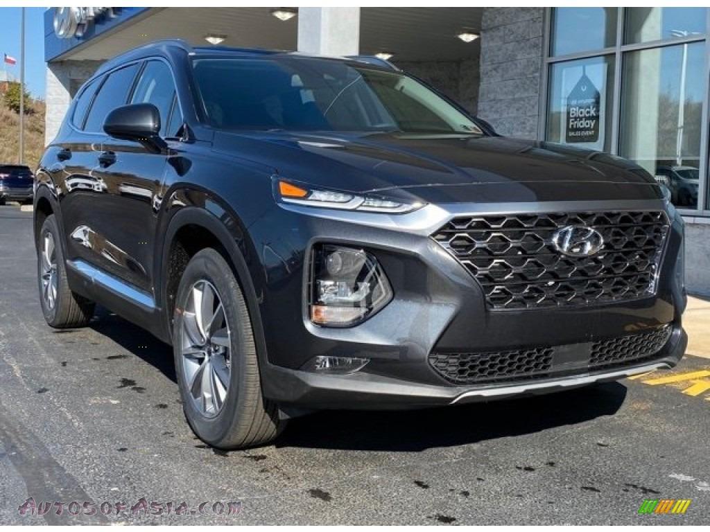 2020 Santa Fe SEL AWD - Machine Gray / Black photo #1