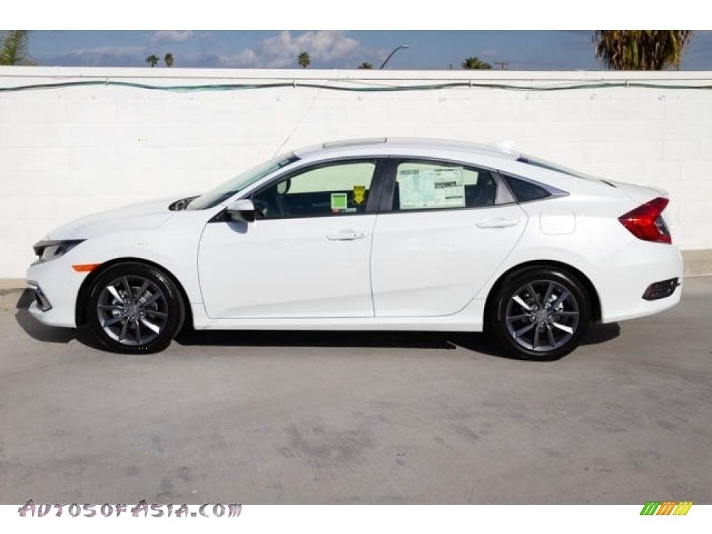 2020 Civic EX Sedan - Platinum White Pearl / Black photo #5