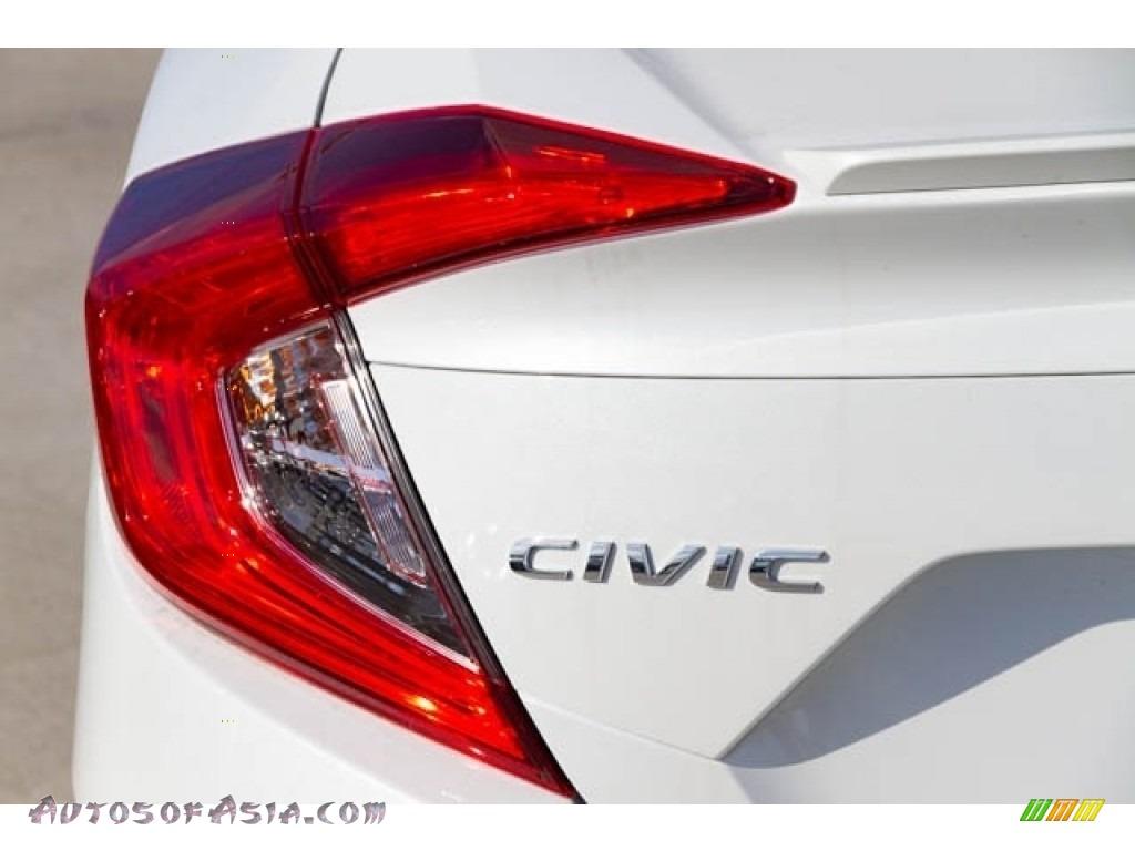 2020 Civic EX Sedan - Platinum White Pearl / Black photo #7