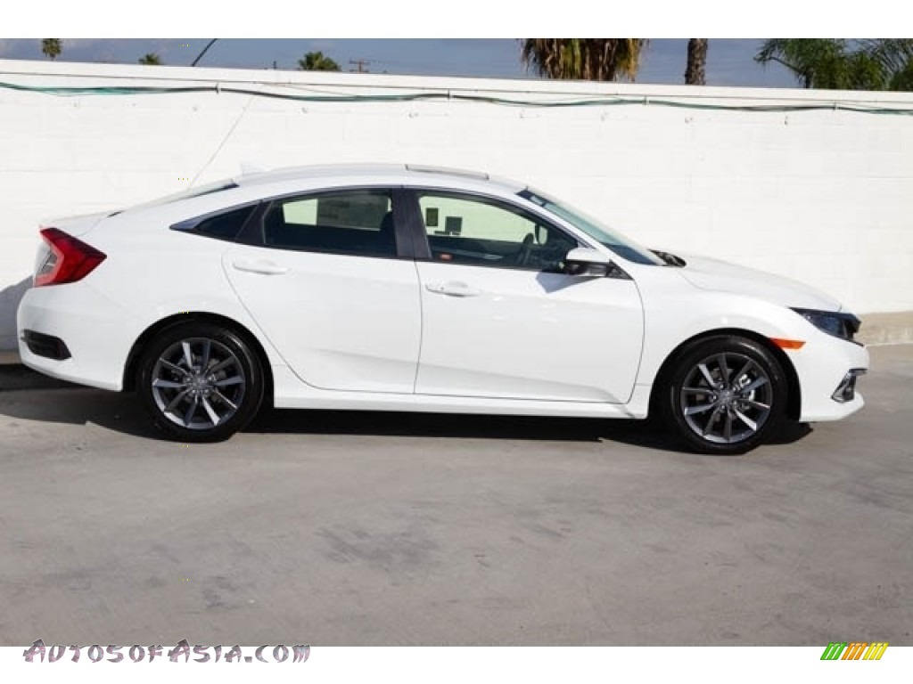 2020 Civic EX Sedan - Platinum White Pearl / Black photo #9