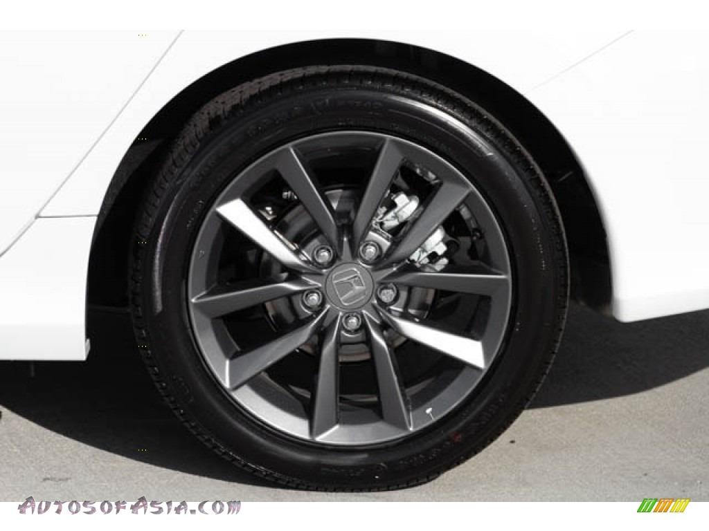 2020 Civic EX Sedan - Platinum White Pearl / Black photo #13