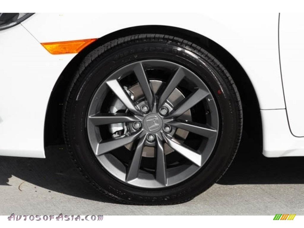 2020 Civic EX Sedan - Platinum White Pearl / Black photo #14