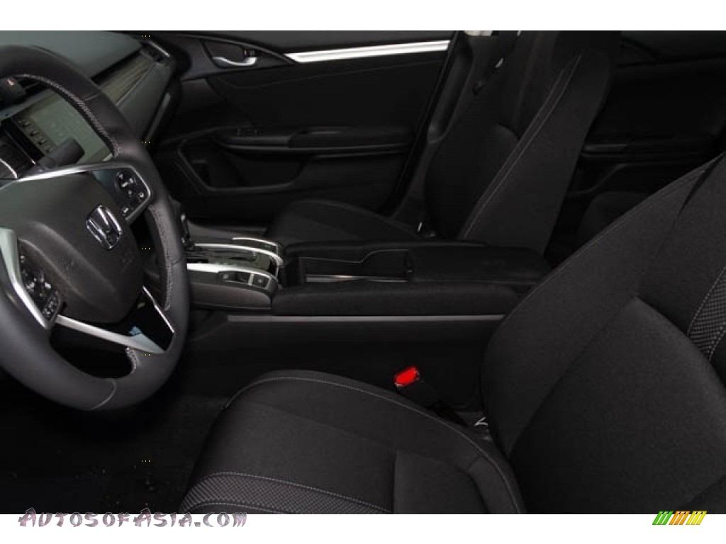2020 Civic EX Sedan - Platinum White Pearl / Black photo #17