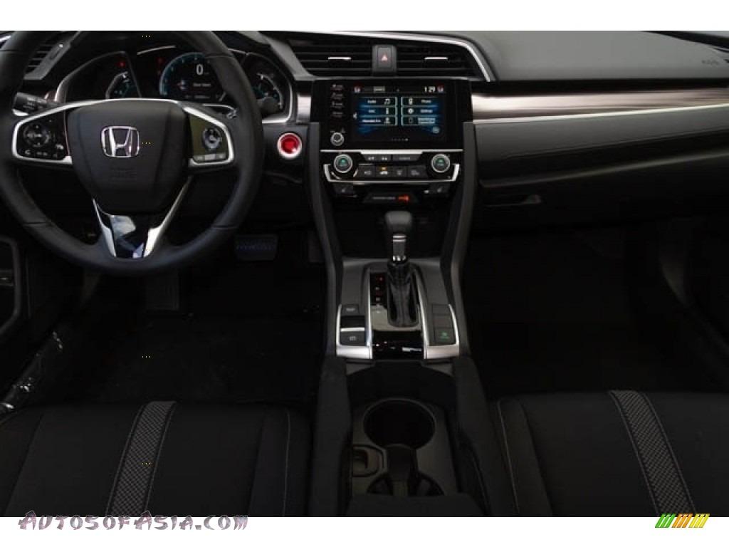 2020 Civic EX Sedan - Platinum White Pearl / Black photo #19