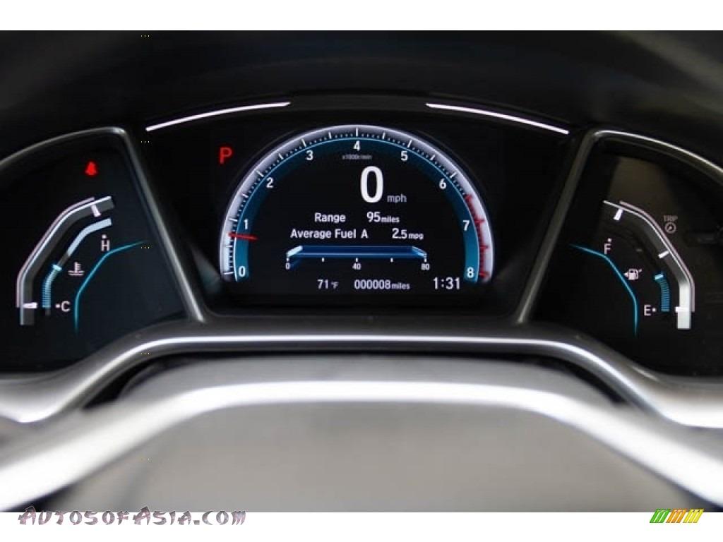 2020 Civic EX Sedan - Platinum White Pearl / Black photo #20