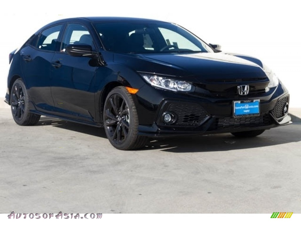 Crystal Black Pearl / Black Honda Civic Sport Hatchback