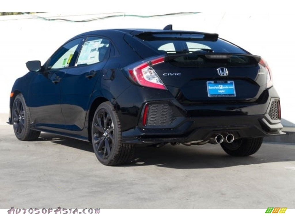 2020 Civic Sport Hatchback - Crystal Black Pearl / Black photo #2