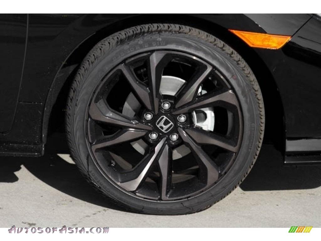 2020 Civic Sport Hatchback - Crystal Black Pearl / Black photo #5